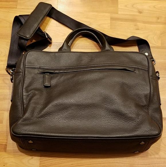 Banana Republic Bags   Brown Leather Laptop Bag   Poshmark 242fe08eb7